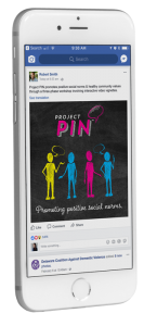 project pin domestic violence prevention social media