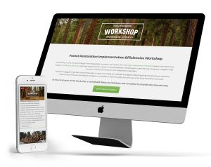 forest restoration graphic design branding